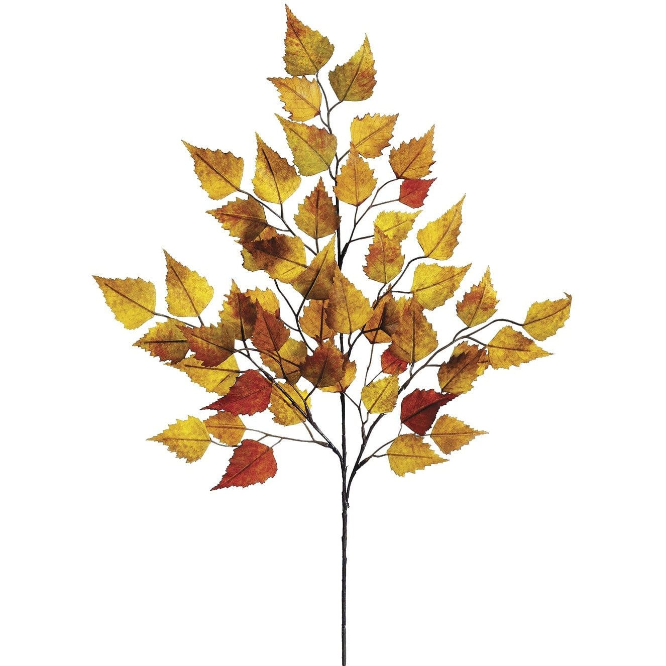 "26"" Birch Leaf Spray Orange/Mustard/Yellow"
