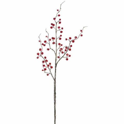 "29"" Iced Red Berry Stem"