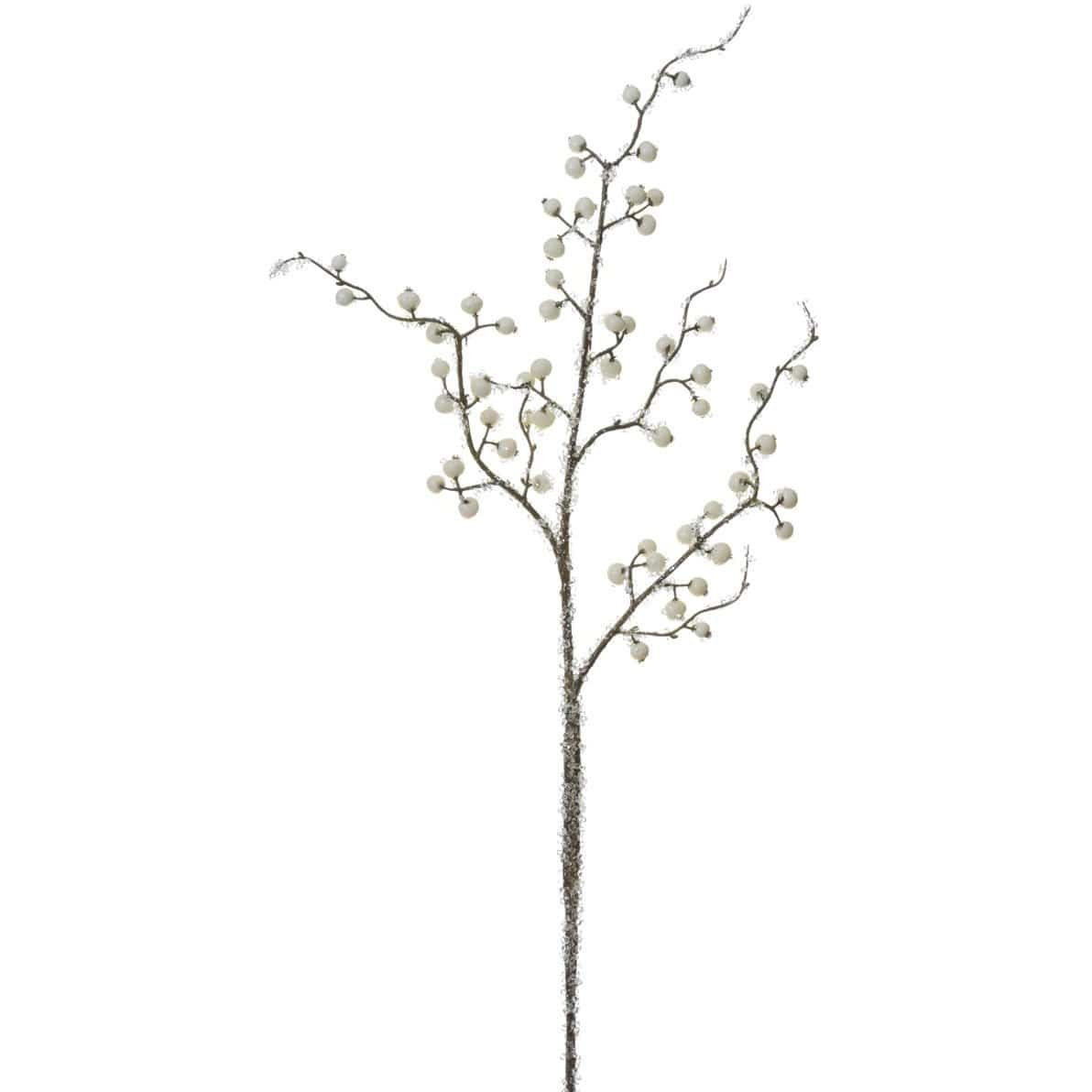 "29"" Iced White Berry Stem"