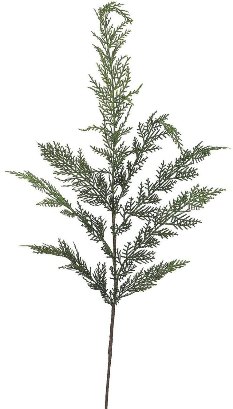 faux cedar stem christmas greenery