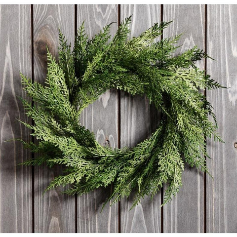 "12"" Faux Cedar Wreath"