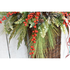 "28"" Faux Outdoor Red Berry Stem"