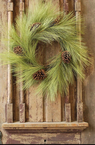 "24"" Long Needle Pine Wreath"