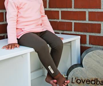 Organic Cotton Leggings- Bark (12-18 Months)