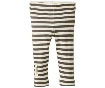 Organic Cotton Leggings- Gray/Beige (6-9 Months)