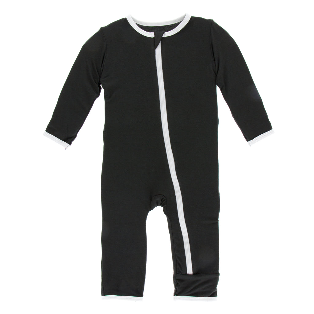 Applique Coverall with Zipper in Zebra Tuscan Cow