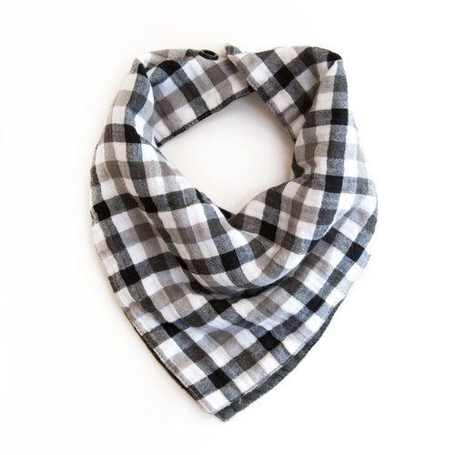 "Twigs & Co. ""Black Gingham"" Bandana Bib"