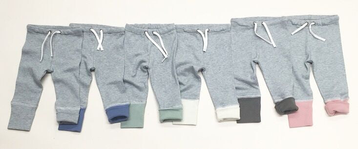 Organic Joggers- Heather Gray