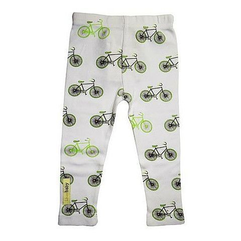 Organic Leggings in  Bicycle Print