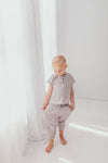 Organic Muslin Tee with Harem Pants Set