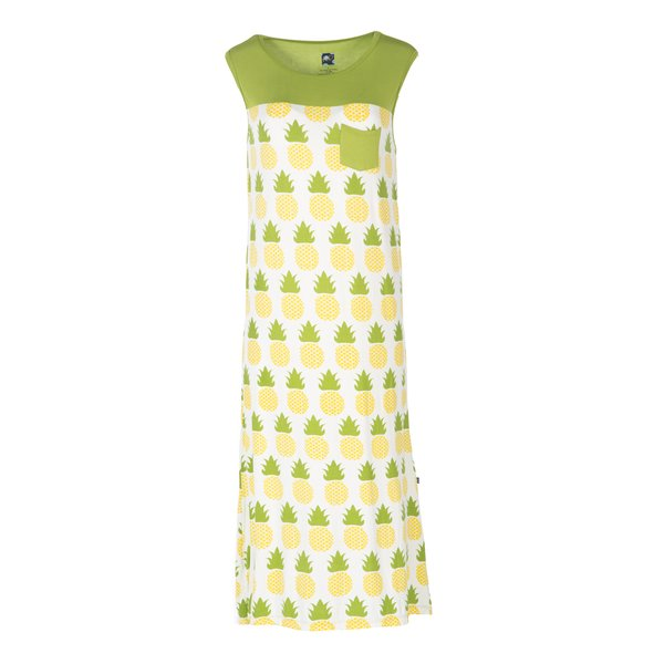 Women's Midi Tank Nightgown - Natural Pineapple