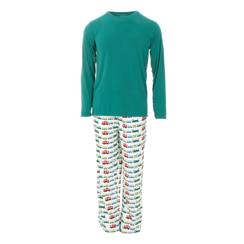 Men's Print Long Sleeve Pajama Set
