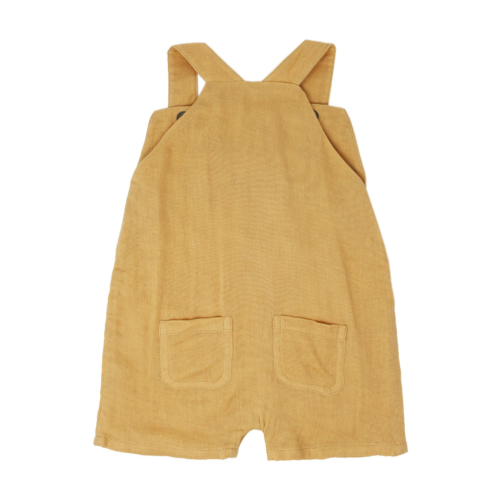 Organic Muslin Overall in Apricot