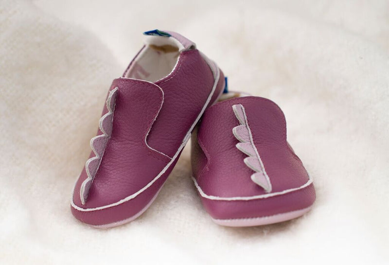 Soft Sole Shoes- Dinosaur scales Amethyst