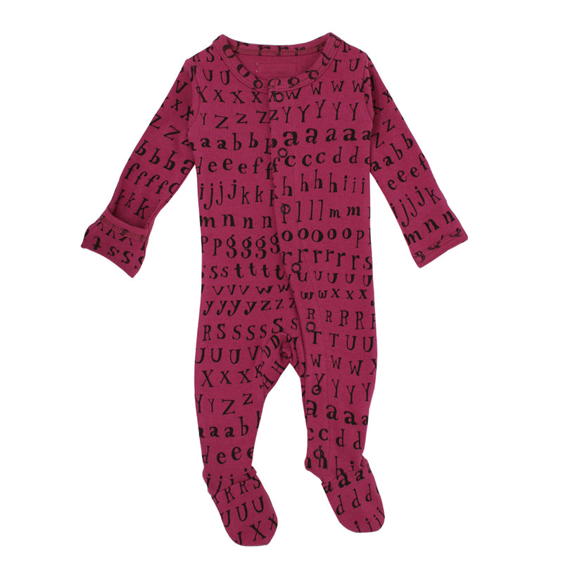 Organic Footed Overall-Magenta (0-3M)