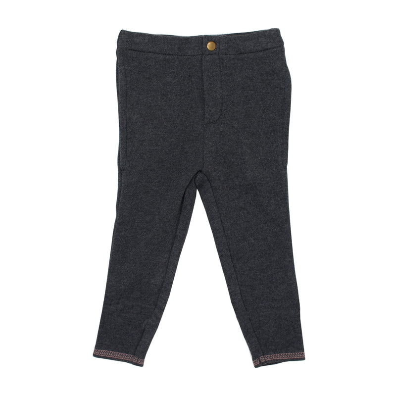 Organic Cuffed Pant, Dark Heather/Mauve