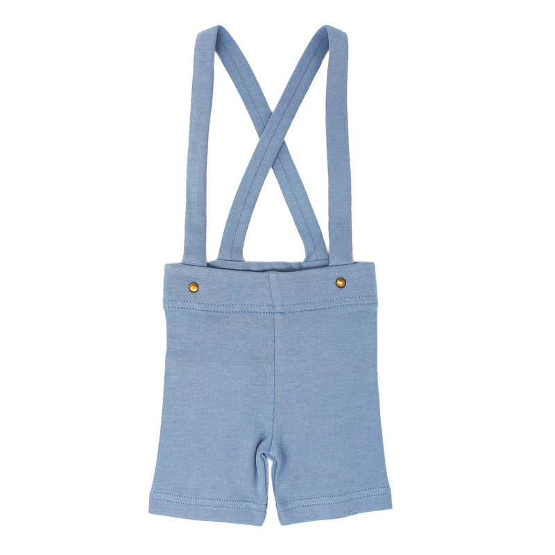 Short Sleeve Polo Bodysuit and Suspender Shorts Set in Pool
