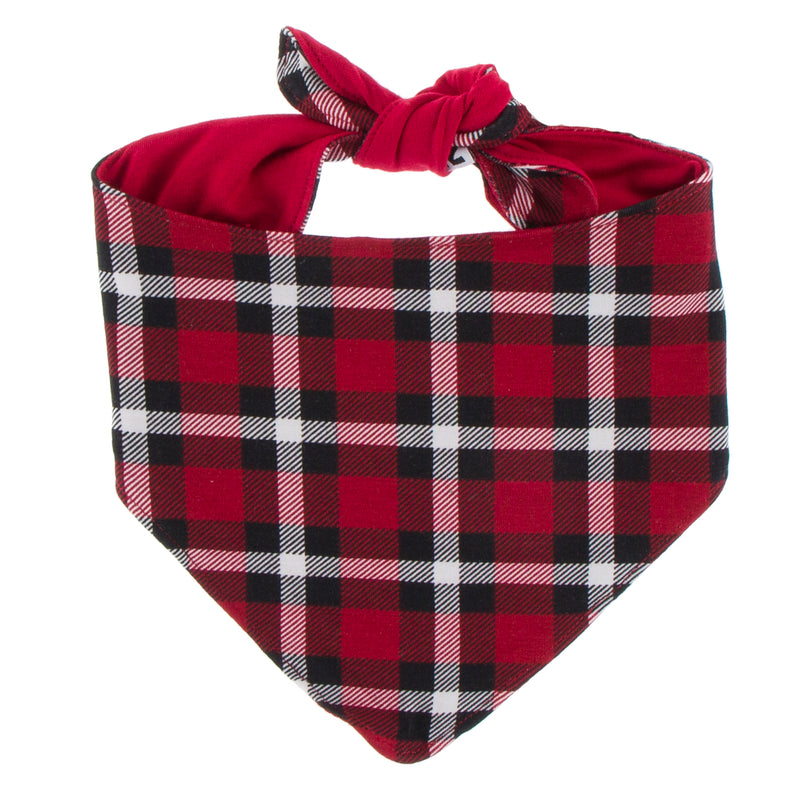 Print Dog Bandana (Crimson 2020 Holiday Plaid - M)