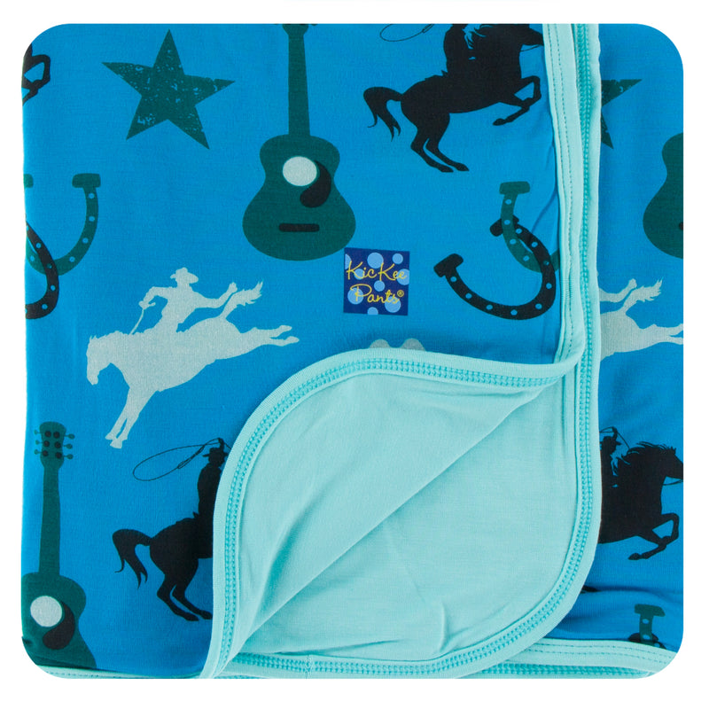 Print Stroller Blanket in Amazon Cowboy