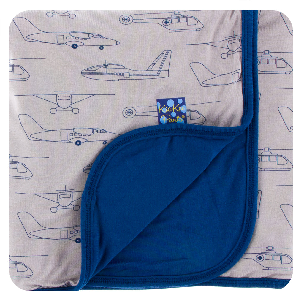 Print Stroller Blanket in Feather Heroes in the Air
