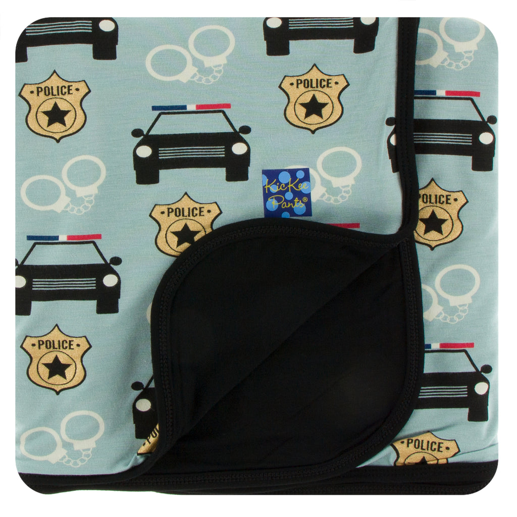 Print Stroller Blanket in Jade Law Enforcement