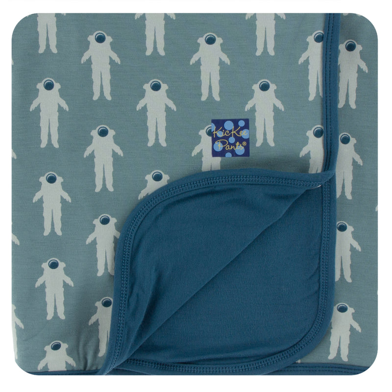 Print Stroller Blanket in Dusty Sky Astronaut