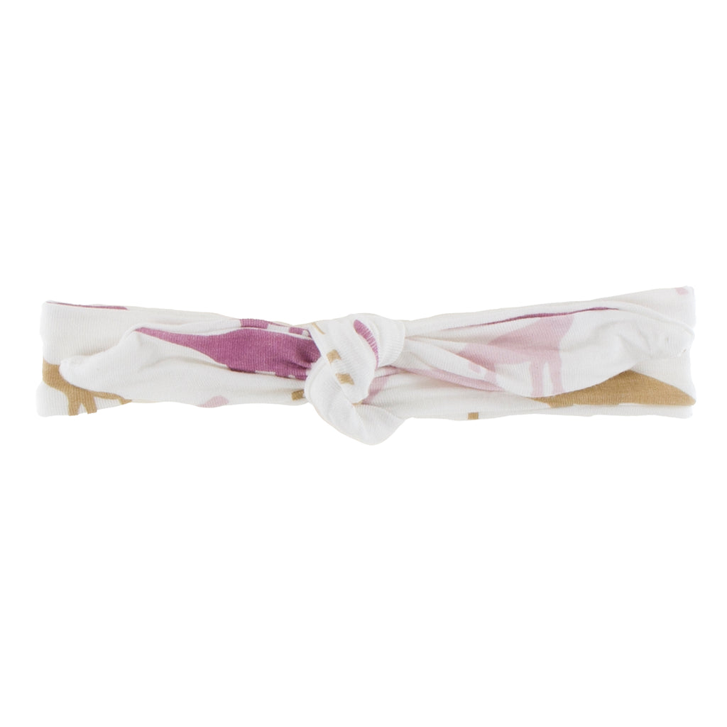 Print Bow Headband-Natural Sauropods