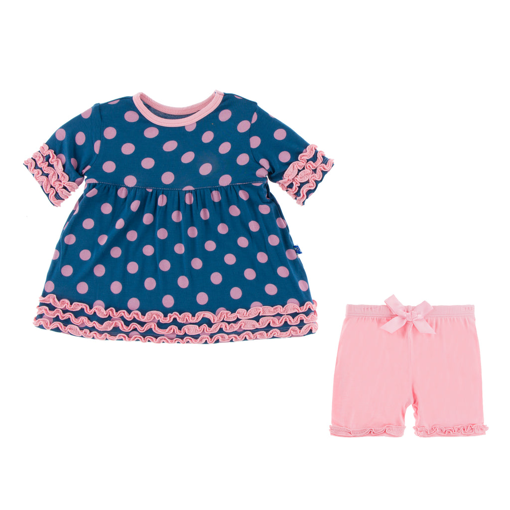Print S/S Babydoll Outfit Set (18-24 Months)