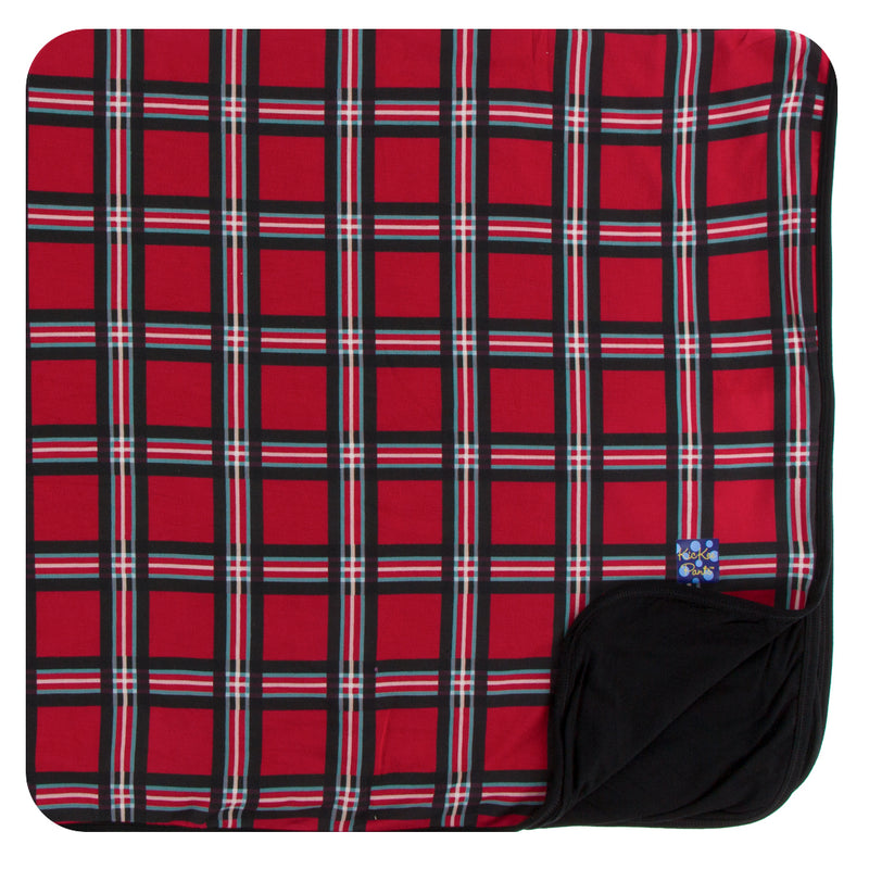 Print Throw Blanket in Christmas Plaid