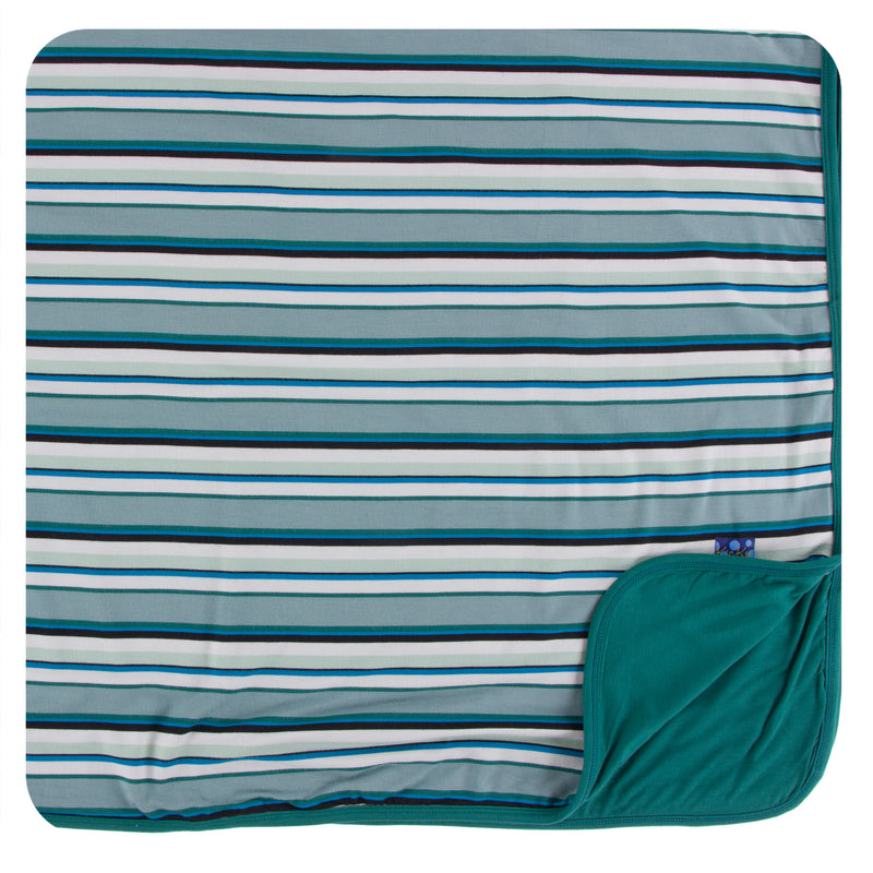 Print Toddler Blanket in Multi Agriculture Stripe