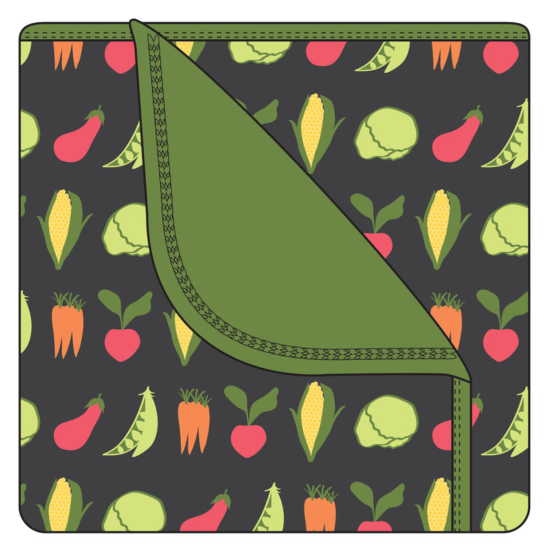 Print Toddler Blanket in Zebra Garden Veggies