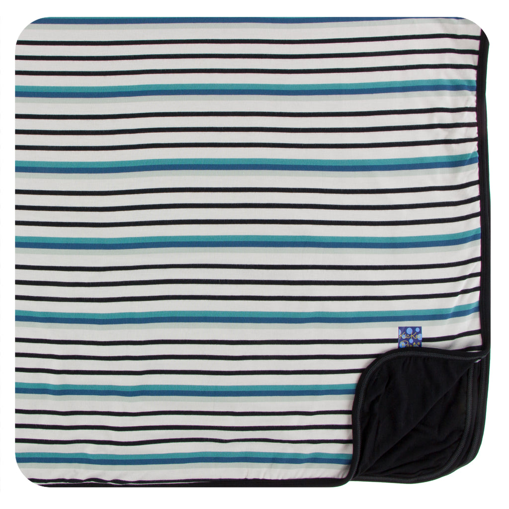 Print Toddler Blanket in Neptune Stripe