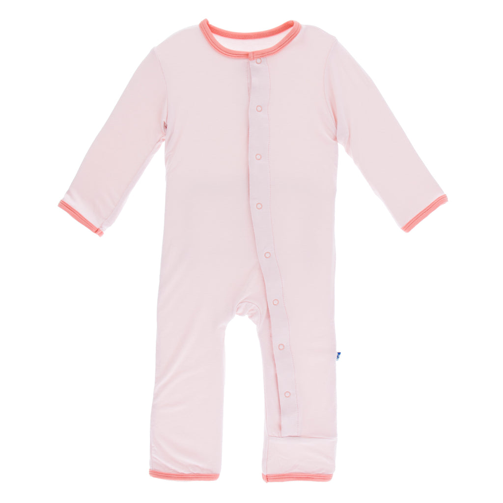 Holiday Layette Applique Coverall (Macaroon Baby Sister)
