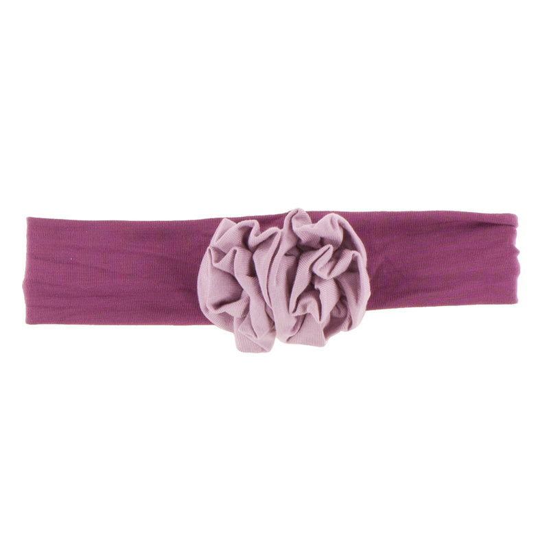 Solid Flower Headband (Amethyst with Sweet Pea)-Small