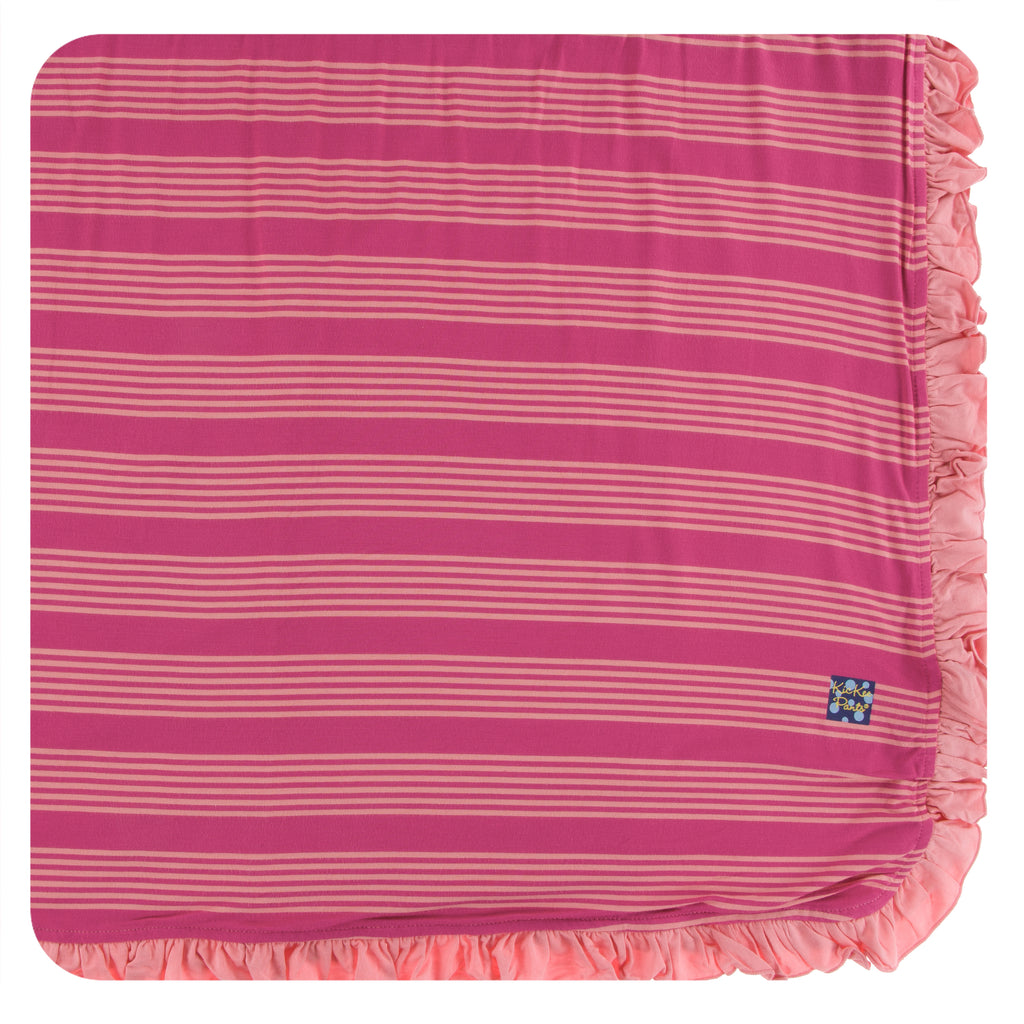 Print Ruffle Toddler Blanket in Calypso Agriculture Stripe