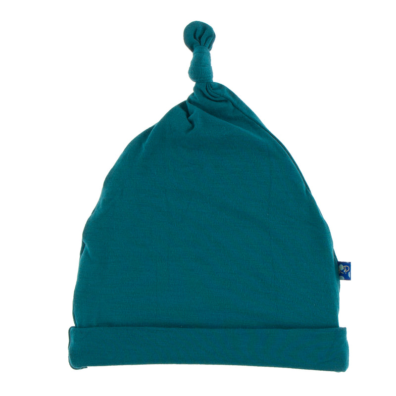 Solid Knot Hat in Oasis (NB-3M)