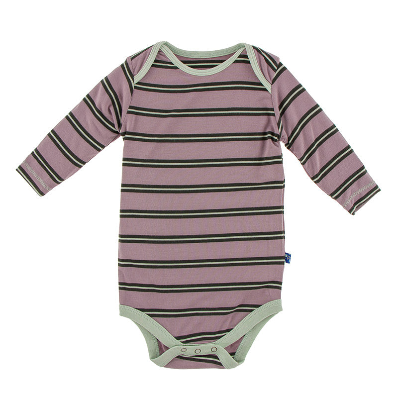 Long Sleeve One Piece - Elderberry Stripe