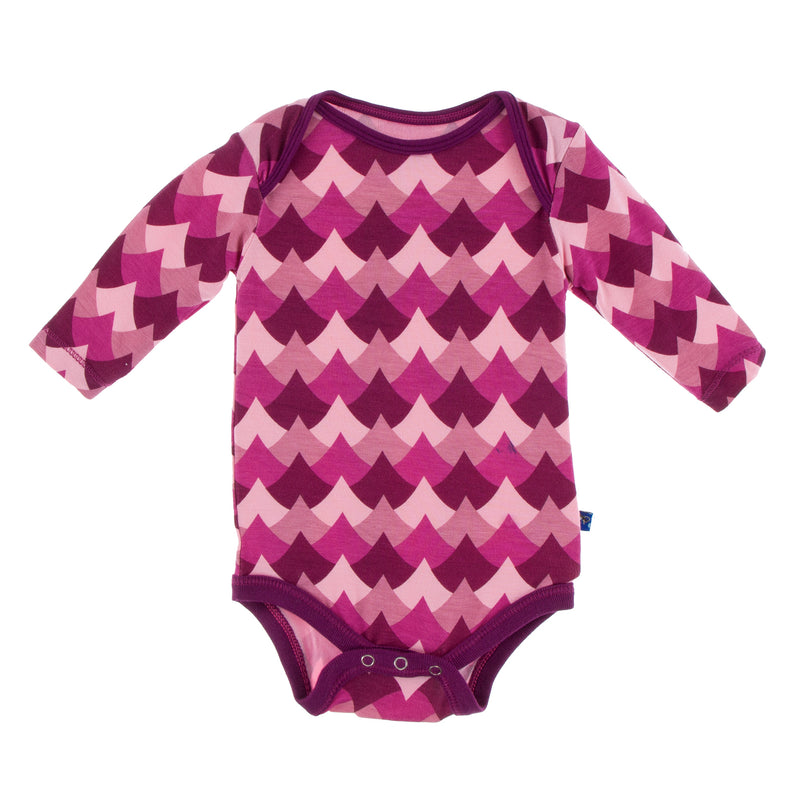 Print Long Sleeve One Piece (Melody Waves - 0-3 Months)