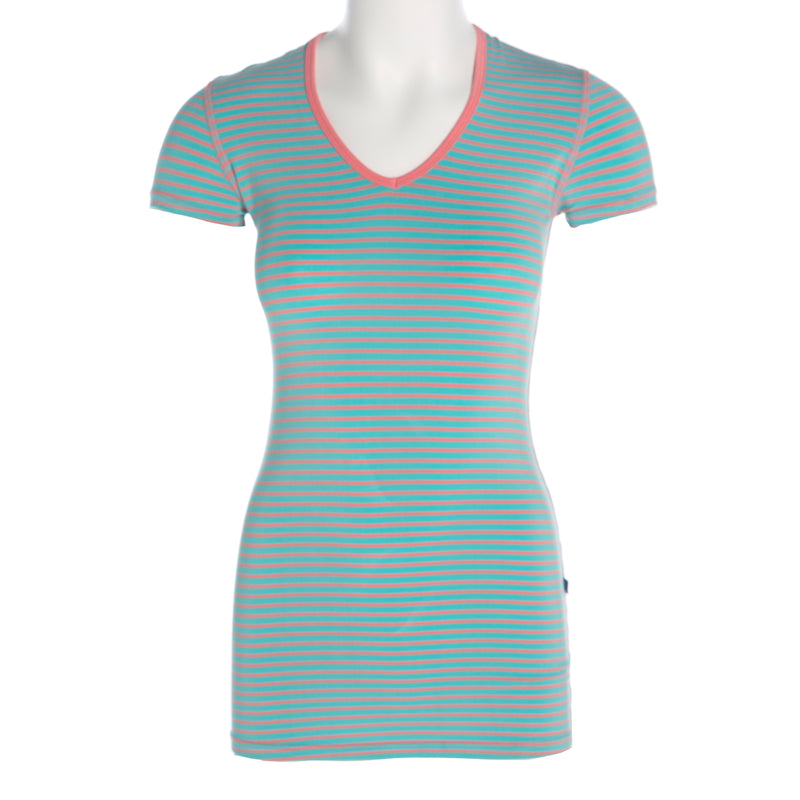 Short Sleeve One Tee - Strawberry Stripe (Large)
