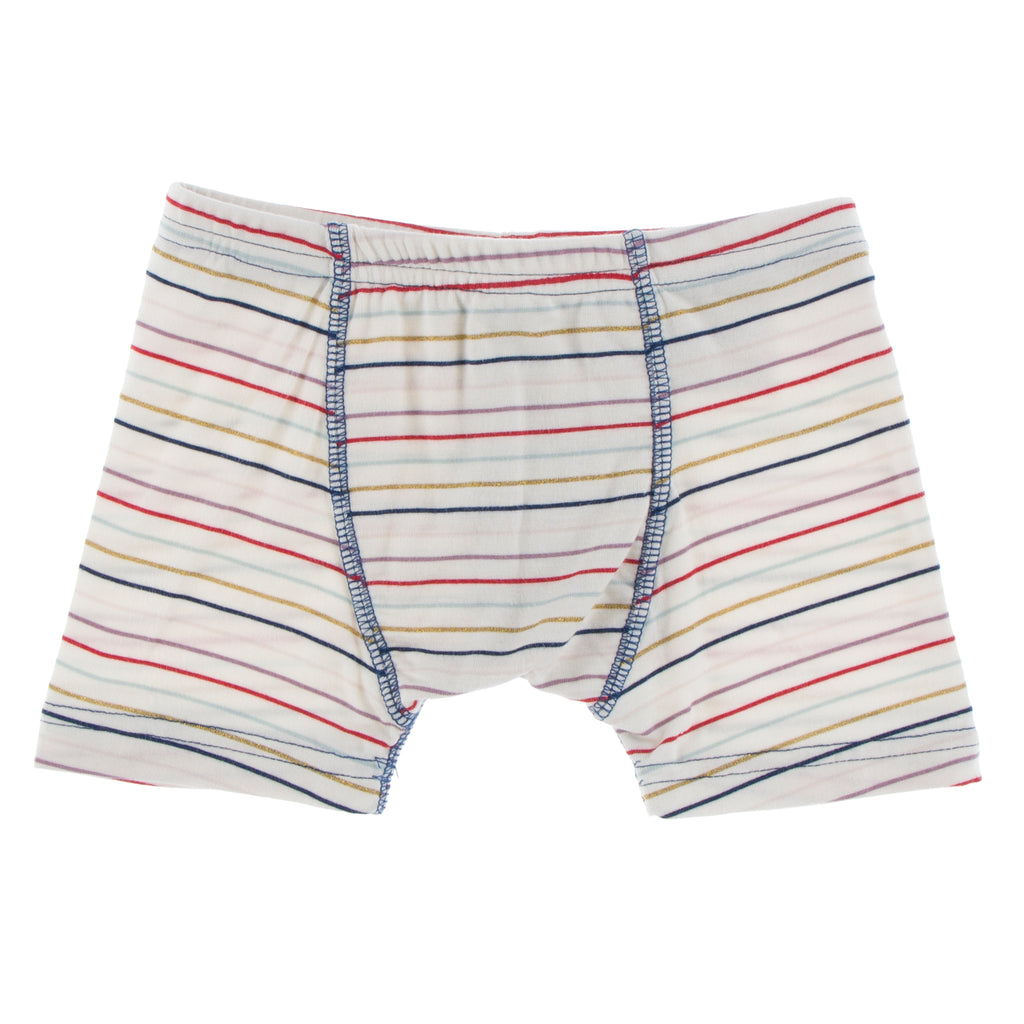 Print Single Boxer Brief in Everyday Heroes Multi Stripe