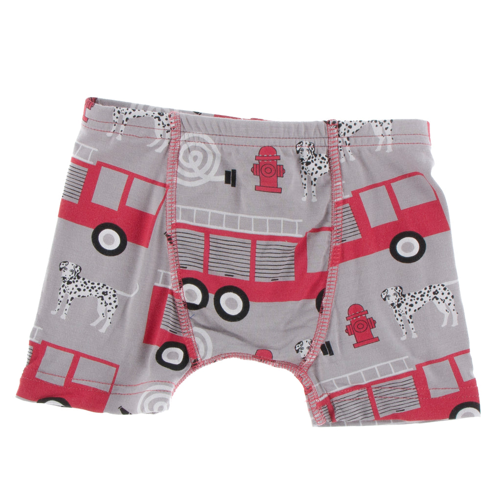 Print Single Boxer Brief in Feather Firefighter