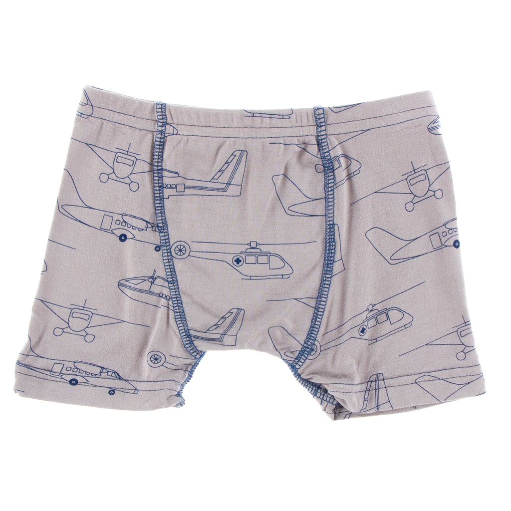 Print Single Boxer Brief in Feather Heroes in the Air
