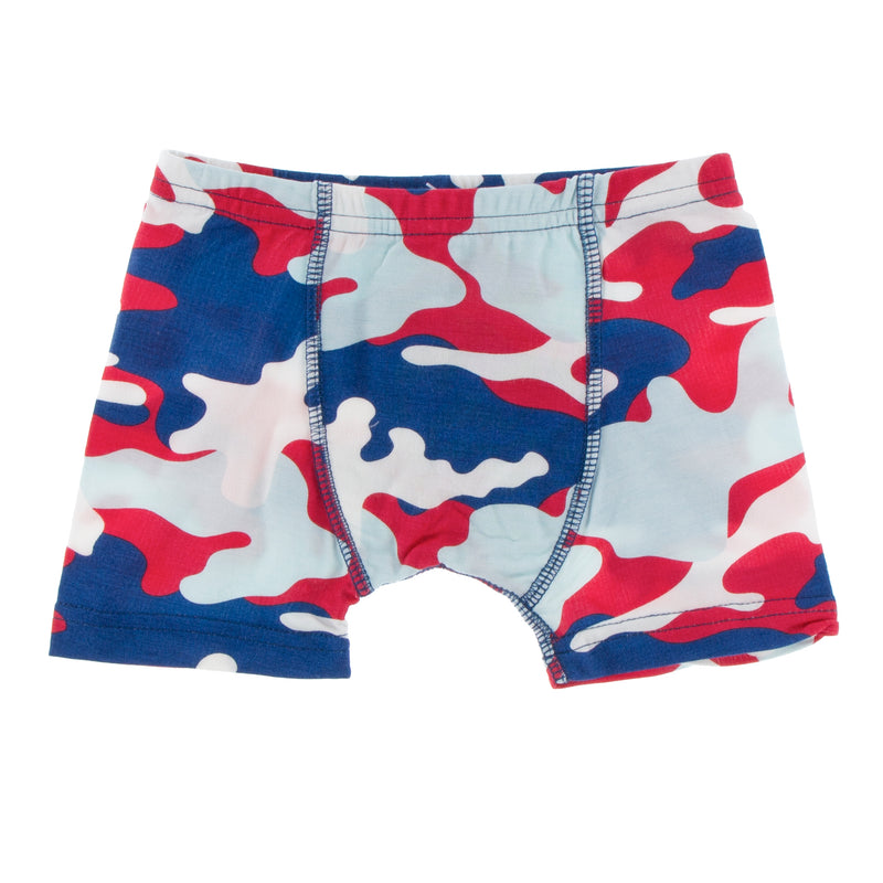 Print Single Boxer Brief in Flag Red Military