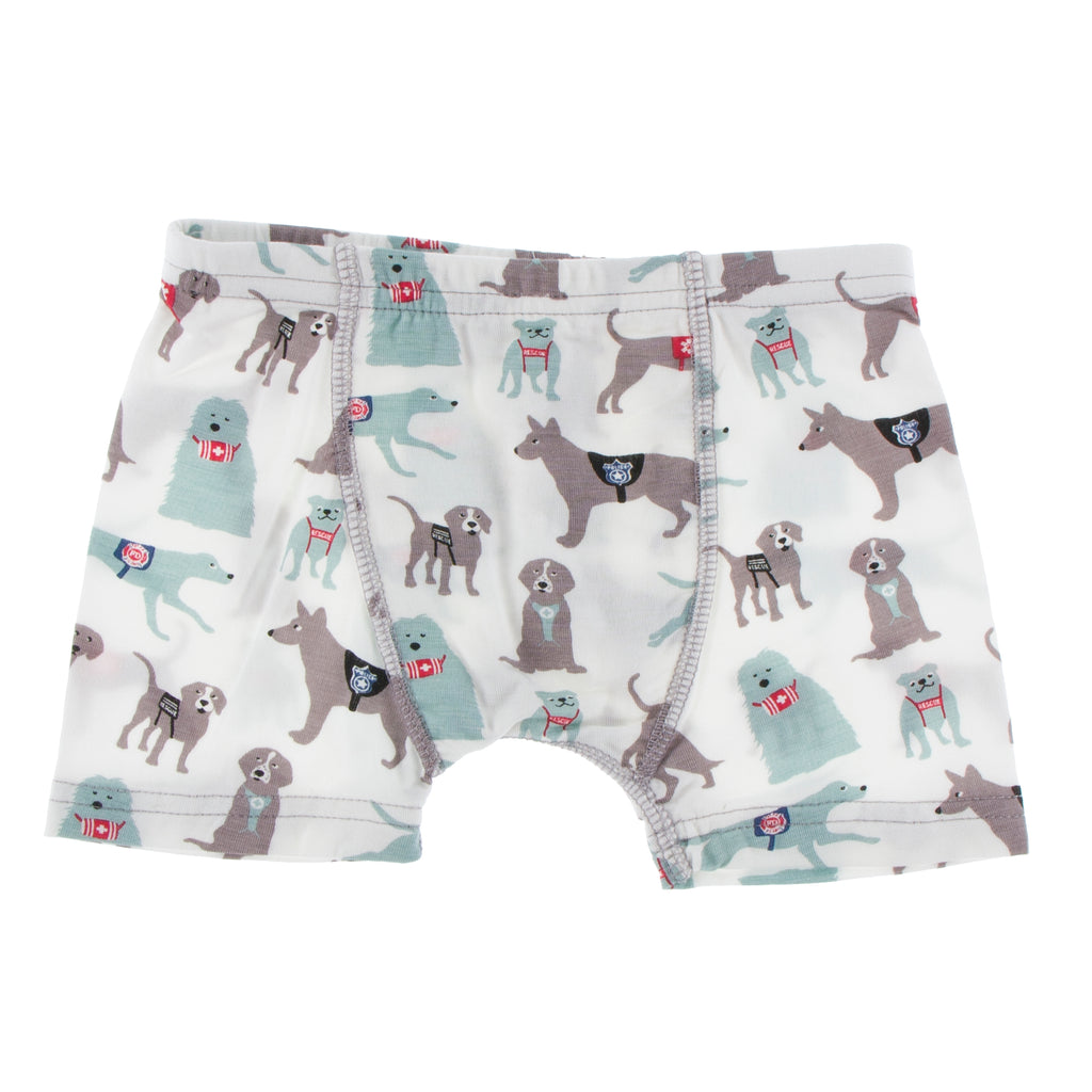 Print Single Boxer Brief in Natural Canine First Responders