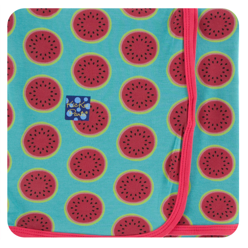 Print Swaddling Blanket in Neptune Watermelon
