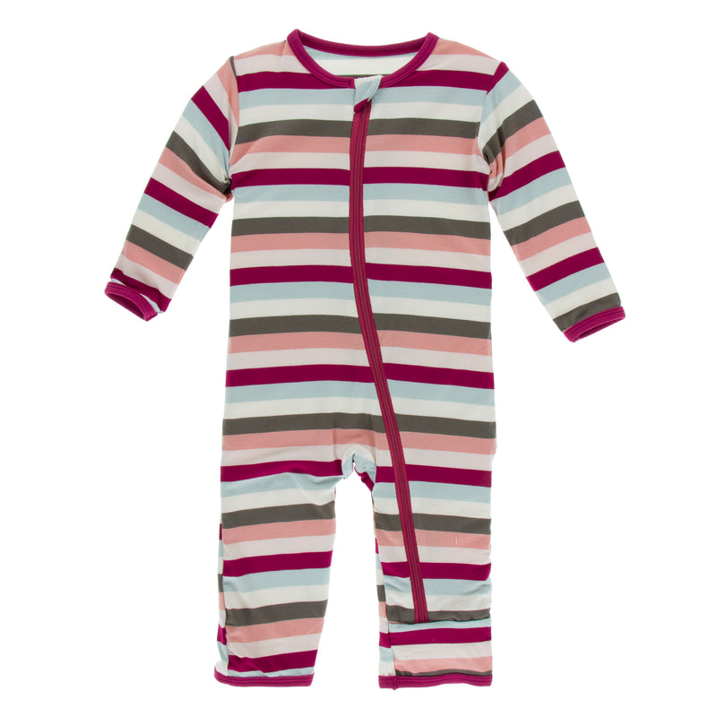 Print Coverall with Zipper in Geology Stripe