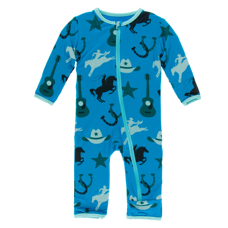 Print Coverall with Zipper in Amazon Cowboy