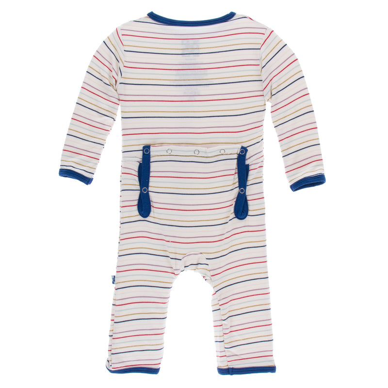 Print Coverall with Zipper in Everyday Heroes Multi Stripe