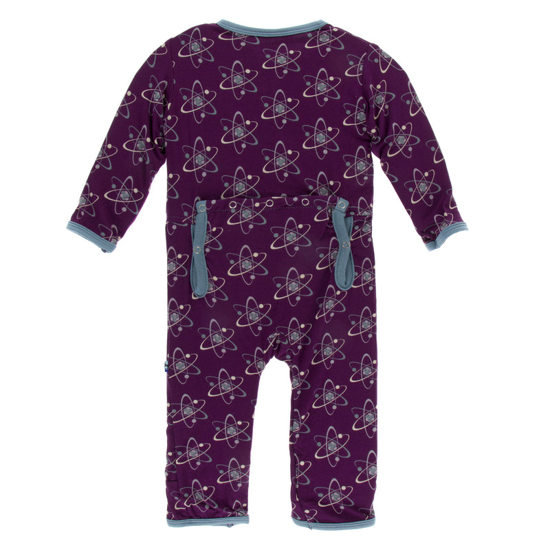 Print Coverall with Zipper in Wine Grapes Galaxy