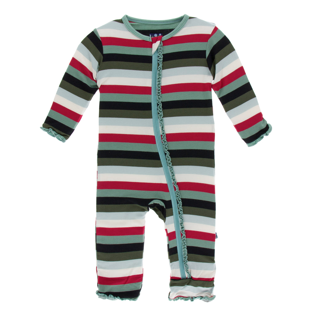 Print Muffin Ruffle Coverall with Zipper (3T)